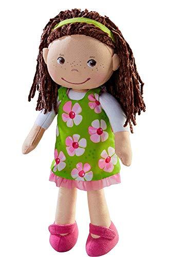 HABA 303666 - Puppe Coco | Stoffpuppe zum Spielen und Kuscheln | Puppe aus weichen, waschbaren Materialien | Geschenk zum 1. Geburtstag | Größe: 30 cm