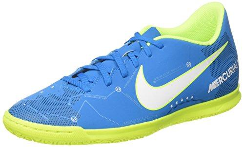 Nike Mercurialx Vortex Iii Njr Ic, Chaussures de Football Homme Turquoise (Blue Orbit/white/blue Orbit/armory Navy/volt/volt)