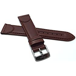 14mm, Sports, Light Brown Genuine Leather Watch Band Strap, Tone-on-Tone Stitching, Comes in Light Brown or Black, Perfect Replacement Band for certain Swiss Army, Wenger and Victorianox Watch Models
