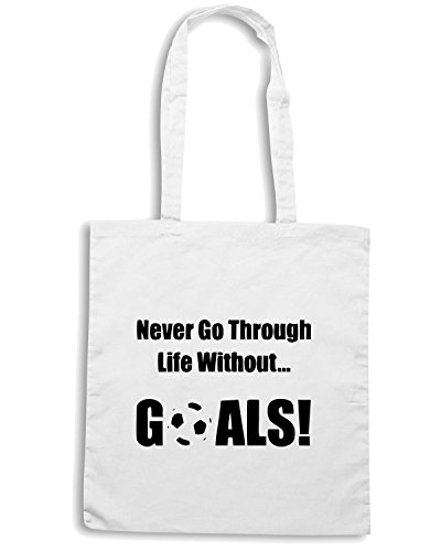 T-Shirtshock - Borsa Shopping OLDENG00250 soccer goals Bianco