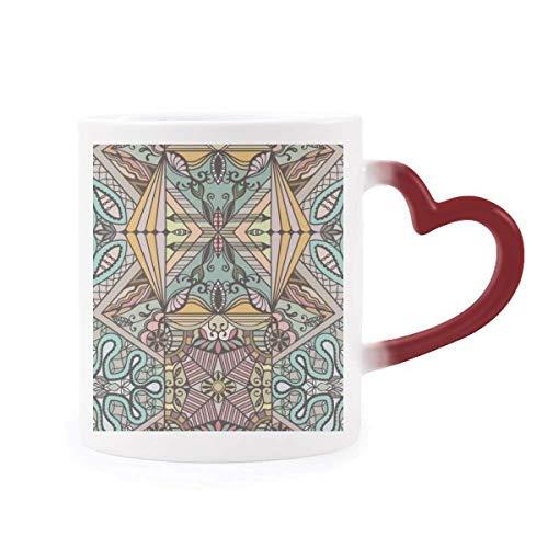 Tasse, Motiv'Europa Rokoko', mit Linienmuster, hitzeempfindlich, Rot