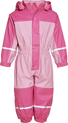 Playshoes Unisex - Baby Babybekleidung/ Overalls Babyoverall mi Fleece-Futter 405400, Gr. 74, Rosa (730 rose/pink)