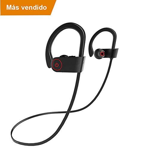 Conpush Auriculares Bluetooth Inalámbrico En el oido Auricular con micrófono para Gimnasio Corriendo Deportes (Rojo, IPX7, HD, 8 Horas)