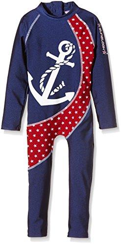 Zunblock UV 50 plus Anzug Seabreeze, Navy/Red, 86/92, 1233192 Sonnenschutz Anzug Baby
