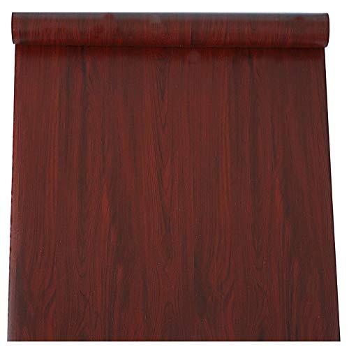 TaoGift Selbstklebendes Vinyl-Mahagoni-Holz-Kontaktpapier für Küchenschränke, Regale, Schubladen, Schränke, Theke, Tisch, Möbel, Tür, Wandaufkleber 15.7