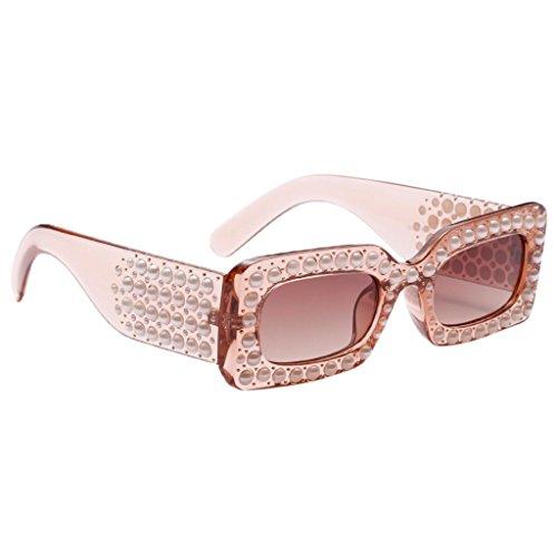 Fenteer Diamante Damen Polarisierte Sonnenbrillen UV-Schutz Gläser Eyewear Schutzbrillen - Brown-Rahmen Brown-Linse