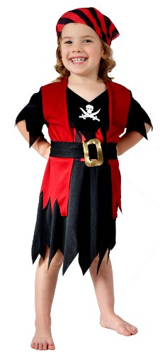 Pirate Kostüm Fancy Dress - Girls Toddler Pirate Fancy Dress Costume (Kostüm)