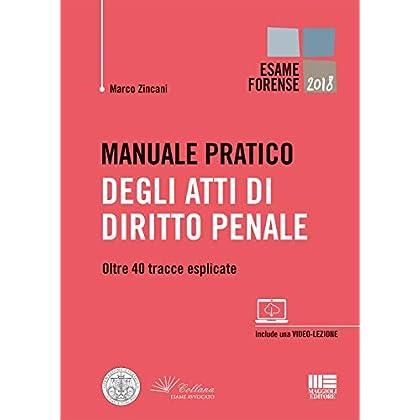 Manuale Pratico Degli Atti Di Diritto Penale. Oltre 40 Tracce Esplicate
