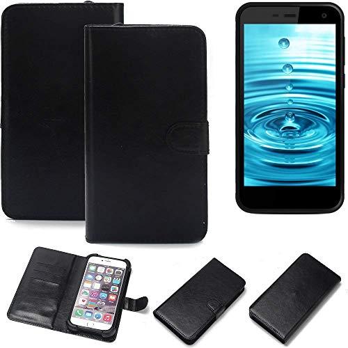 K-S-Trade 360° Wallet Case Handyhülle Energizer H500S Schutz Hülle Smartphone Flip Cover Flipstyle Tasche Schutzhülle Flipcover Slim Bumper schwarz, 1x