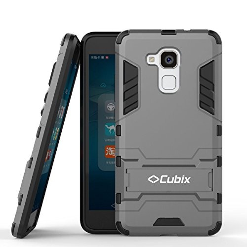 Quicksand Cubix Robot Case For Huawei Honor 5C Case Back Cover Warrior Hybrid Defender Bumper Shock Proof Case Armor Cover With Stand For Huawei Honor 5C Grey  available at amazon for Rs.398