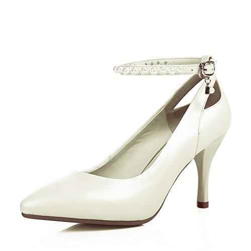 Desconocido 1to9mms05522 - Sandalias Con Cuña Blanca Mujer
