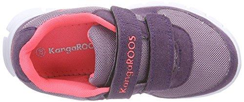KangaROOS 2082 II Mädchen Sneakers Violett (violet/shock pink 687)