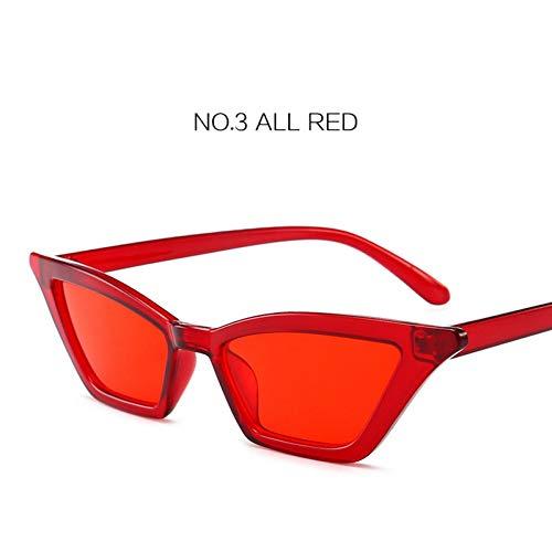 YLNJYJ Sonnenbrillen Kaleidoskop Brille 90Er Jahre Sexy Cat Eye Sonnenbrillen Frauen Kleine Vintage Cat Eye Sonnenbrille Rosa Rot Eyewear Shades Weibl