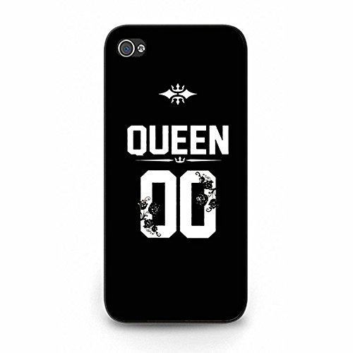 Iphone 5/5s Case,Fashionable King Queen Crown Couple Phone Case Cover for Iphone 5/5s Best Friends Boyfriend Girlfriend Lovers Shell Cover Color121d