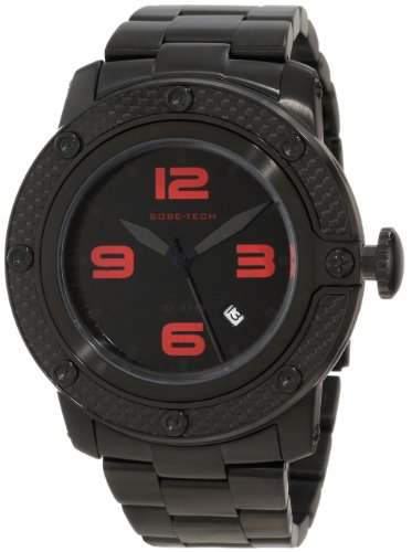 Glam Rock Men's GR33007 SoBe Black Dial Black Ion-Plated Stainless Steel Watch