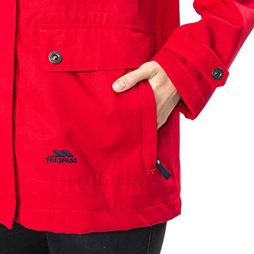 Trespass Seawater, Red, XXS, Wasserdichte Jacke für Damen, XX-Small / 2XS / 2X-Small, Rot - 3