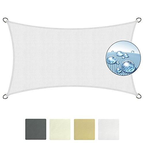 Sol royal tenda a vela impermeabile 400x200 cm solvision ps9 - protezione anti raggi uv - bianco - rettangolare
