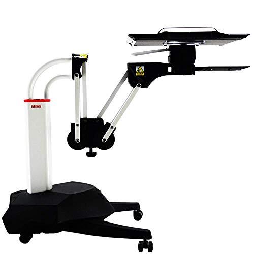 A-lnice scrittoio multifunzione portatile da scrivania/carrello/supporto con tavolino regolabile da tavolo e poggiapiedi pannello girevole a 360 ° con pad per mouse estensibile a 180 °