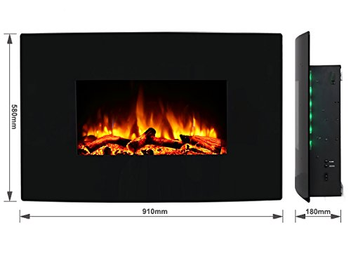 Endeavour Fires Egton Wall Mounted Electric Fire Black