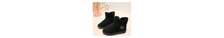 Desy Mujer Zapatos de forro polar botas de invierno botas de nieve botas de moda talón plano botines/tobillo botas... -