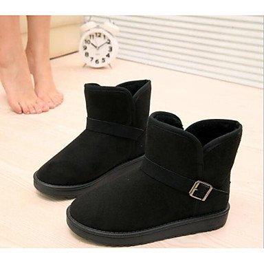 RTRY Scarpe donna Fleece Winter Snow Boots Fashion Stivali Stivali tacco piatto Babbucce/stivaletti di abbigliamento casual Marrone Giallo Nero US8 / EU39 / UK6 / CN39