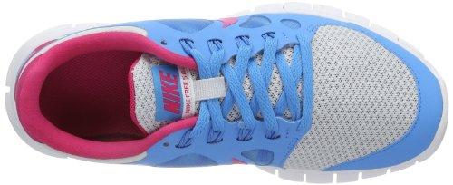 Nike  Free 5.0, basket fille Turquoise - Türkis (Pr Pltnm/Vivid Pink-Vivid Blue-White)