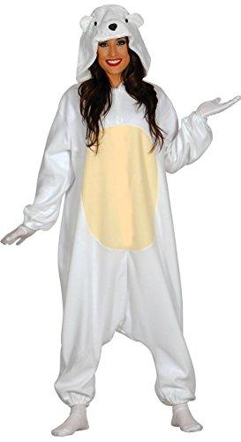 Guirca–Kostüm Erwachsene Schlafanzug Eisbär, Gr. -