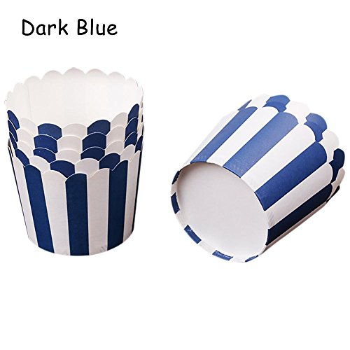24PCS Baking Paper Cup Mini Cake Box Muffin Cake Paper Cup, Multi-Color Vertical Stripes, Oil-Proof, Non-stick, High Temperature, Suitable For Wedding Birthday Party