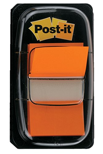 Post-It 70071392826 - Dispensador con 50 indices, mediano, color naranja
