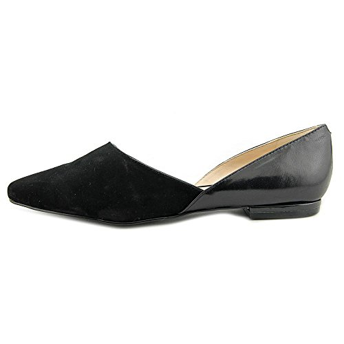 Nine West Sael Femmes Daim Chaussure Plate BlackMu