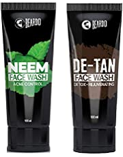 Beardo Neem Facewash and DeTan Facewash Combo