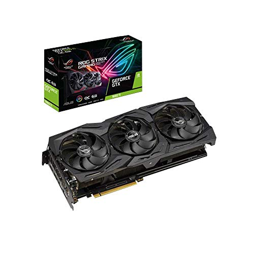 ASUS ROG STRIX NVIDIA GeForce GTX 1660 Ti OC 6G Gaming Grafikkarte (PCIe 3.0, 6GB DDR6 Speicher, HDMI, Displayport)