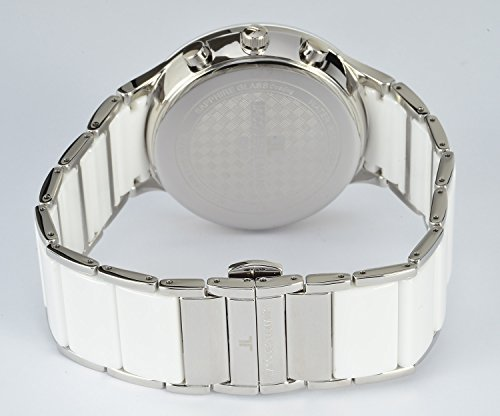 Men's Quartz Watch Jacques Lemans Dial Analogue Display Silver Stainless Steel Strap and White Dial 1–1854B