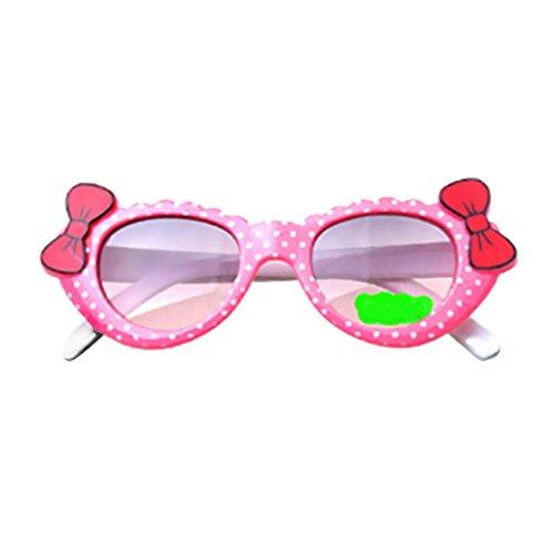 Homyl Kinder Sonnenbrille Wayfare für Jungen und Mädchen - Rosa Weiß