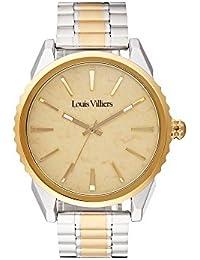 Louis Villiers Reloj Analogico para Unisex de Cuarzo con Correa en Acero Inoxidable LV2066