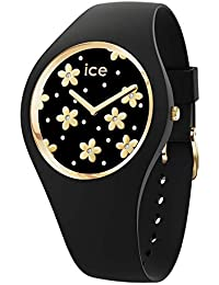 Ice-Watch - ICE flower Precious black - Montre noire pour femme avec bracelet en silicone - 016659 (Small)