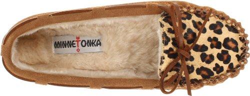 Minnetonka Leopard Cally Slipper, Chaussons Femme Beige (Cinnamon)