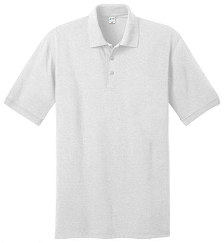 Port & Company hoch 5.5-ounce Jersey Knit Polo kp55t Weiß