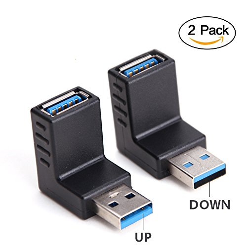 USB 3.0 Adapter 90 Degree Male to Female Combo Vertical Up and Down Angle Coupler Connector