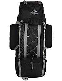 Rockchase 75 Liter Backpack Rucksack For Hunting Shooting Camping Hiking Traveling, Navy Blue And Black
