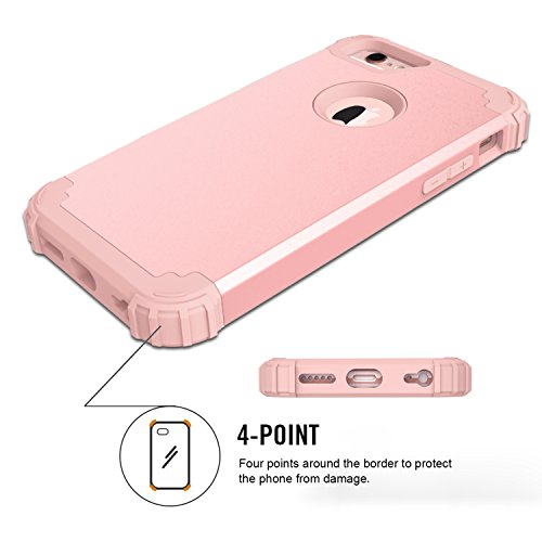 iPhone 7 Plus Case Protective, Soft Silicone Ultra Thin Impact Resistant Case Cover for iPhone 7 Plus Rose