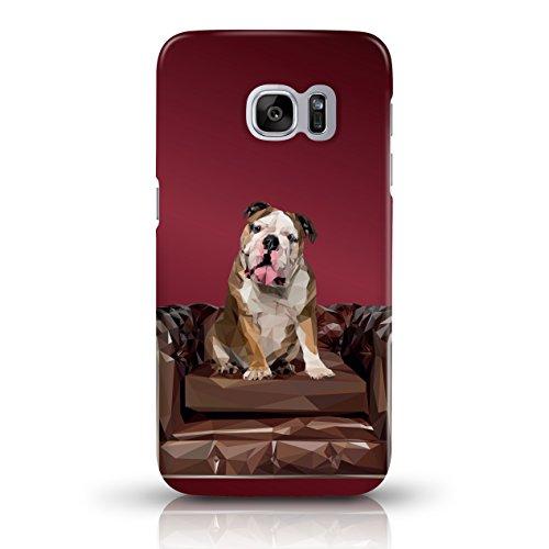 """JUNIWORDS Handyhüllen Slim Case für Samsung Galaxy S7 - Motiv wählbar - """"Anker Design 1 Dunkelblau"""" - Handyhülle, Handycase, Handyschale, Schutzhülle für Ihr Smartphone Bulldogge Dunkelrot"""