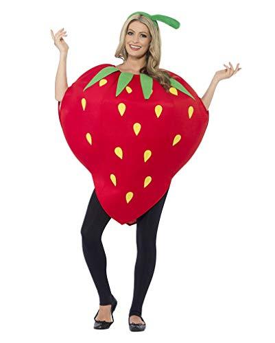 Horror-Shop Erdbeer Kostüm für Mann und - Kinder Frucht Kostüm