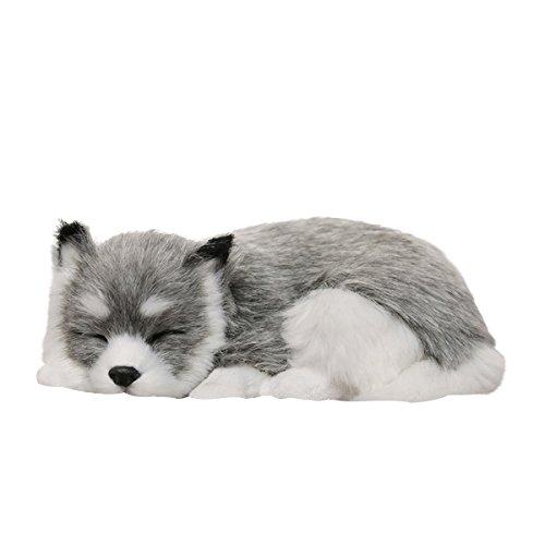 WINOMO eliminador de olor de carbono activado para coches Simulación Animal Decoración Peluche para coche hogar oficina (cachorro husky)