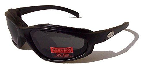 Curv Z rembourré pour moto/motard compatible avec lunettes de soleil Fumée avec étui gratuit