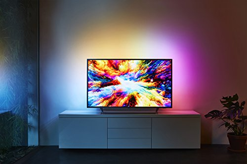 Philips 65PUS7303 12 55-Inch 4K Ultra HD Android Smart TV with HDR Plus  3-sided Ambilight and Philips HTL5160B 12 3 1 Streaming-Soundbar