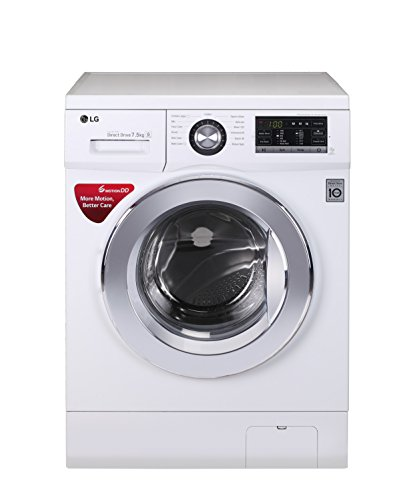 LG 7.5 kg Fully-Automatic Front Loading Washing Machine (FH2G6EDNL22, White)