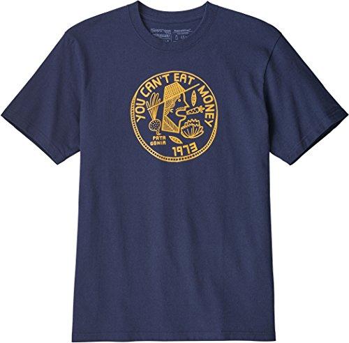 Patagonia Can 't Eat Money Responsibili Shirt, Herren XL blau (Classic Navy) (Patagonia-classic-shirt)