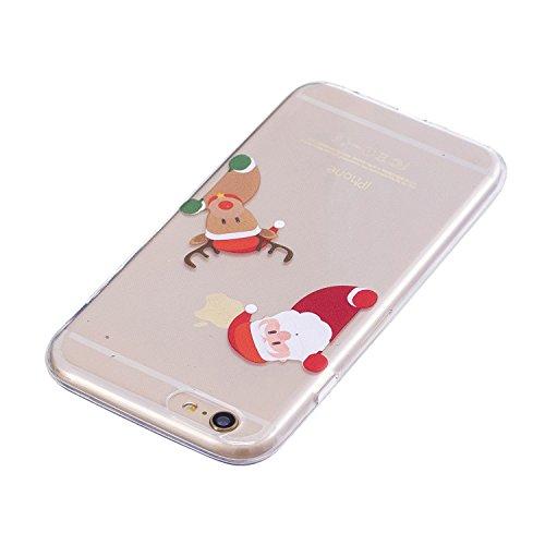 Coque iPhone 6 Plus, iPhone 6S Plus Case, Voguecase [Ultra Fin] [Anti Choc] Nouveau TPU Silicone Conçu pour Noël, Exact Fit / Léger / Souple Housse Etui Coque Pour Apple iPhone 6 Plus/6S Plus 5.5 (Cèd Hello Christmas