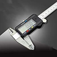 "YISUNF HKFZ Herramienta de medición de Acero Inoxidable Digital Caliper 6""150mm Messschieber paquimetro Instrumento de medición de calibradores Vernier (Color : Stainless Steel)"